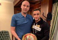 Денис Паслер поздравил Габила Мамедова с титулом чемпиона России по боксу