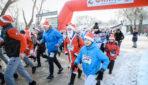 Бегом за добром! В Оренбурге прошел первый забег Дедов Морозов