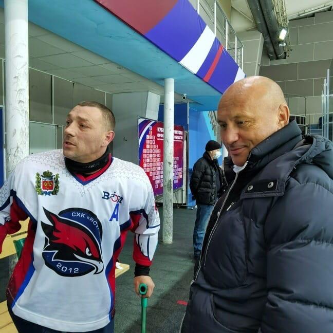 Сергей Черный болел за «Ястребов» на втором этапе Чемпионата России по следж-хоккею