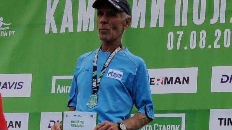 Оренбуржец Александр Белкин выиграл Камский полумарафон в категории «70+»