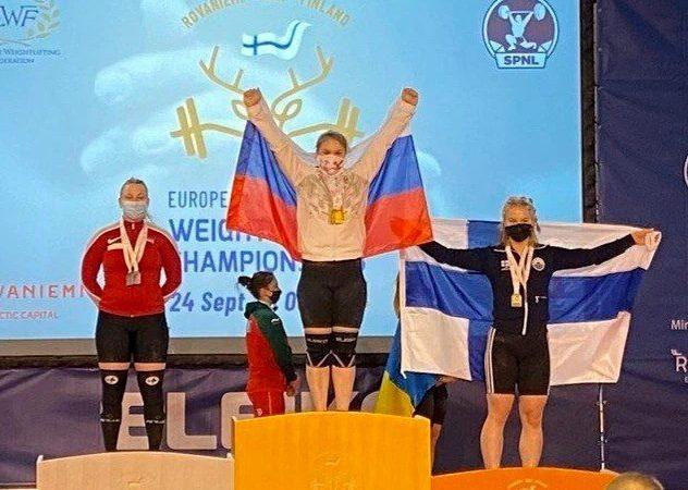Оренбурженка Евгения Гусева стала победительницей первенства Европы по тяжелой атлетике