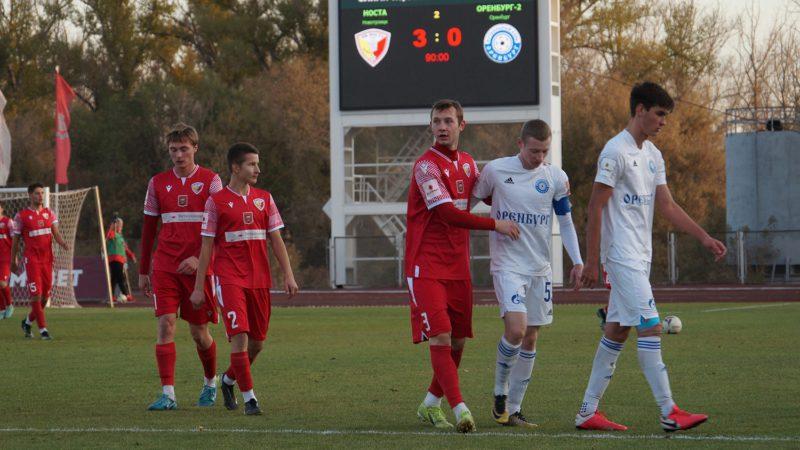 «Носта» разгромила «Оренбург-2», игравший большую часть матча вдесятером