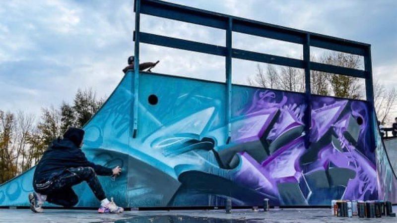 Скейт-парк на набережной Урала украсило новое граффити